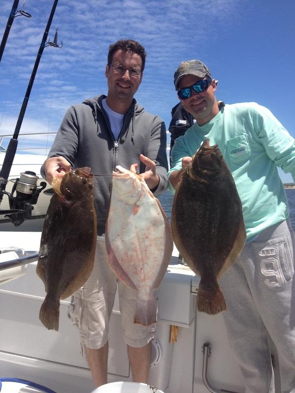 Stripers and fluke charters off sandy hook nj bill for Fluke fishing nj