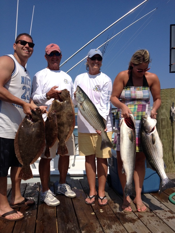 Fluke Striped Bass Fishing Trip