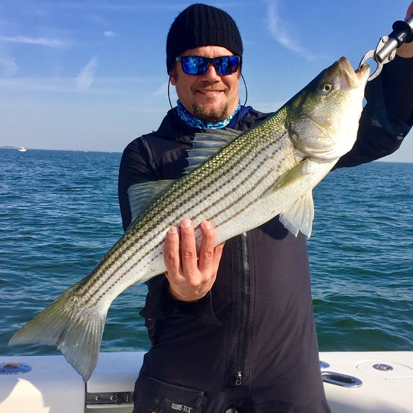11 8 Sandy Hook Nj Striped Bass Charters Bill Chaser