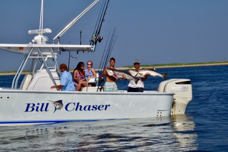 Charter fishing trips highlands nj bill chaser sandy for Fishing charters nj